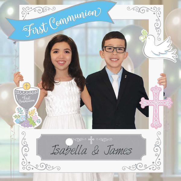 First Communion Polaroid Frame with Add Ons